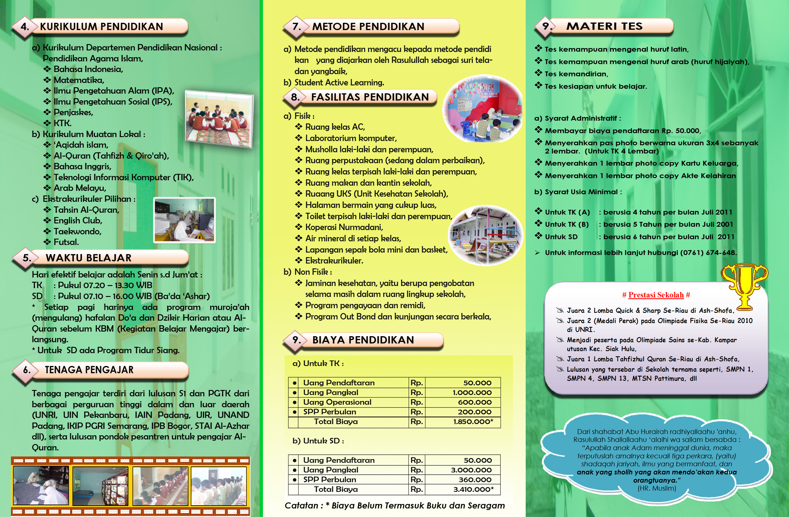 TK-SD Islam Nurmadani Membuka Pendaftaran Siswa Baru